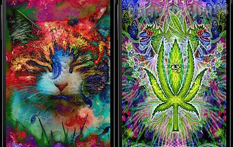 Trippy weed live wallpaper