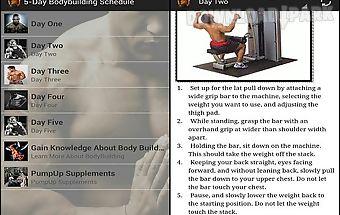 5-day bodybuilding schedule