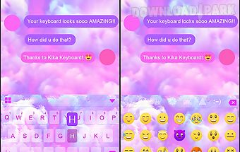 Pink jelly kika keyboard theme Android App free download in Apk