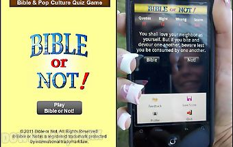 Bible or not® bible quiz game