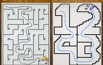 Kids draw maze labyrinth