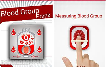Finger blood group prank
