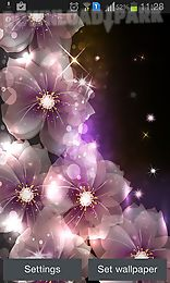 glowing flowers by creative factory wallpapers