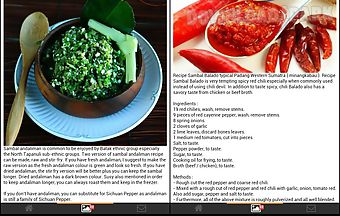 Indonesia sambal recipies