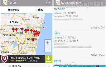 Mobile track location tracker