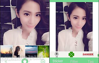 Sticker photo camera