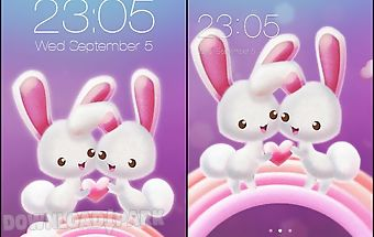 Pink rabbit pet love theme