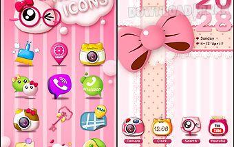 Pinky cat go launcher theme