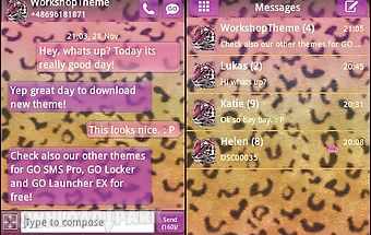 Go sms theme panther