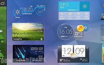 Soccer weather clock widget