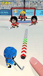 blocky hockey: ice runner