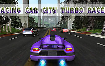 Racing car: city turbo racer