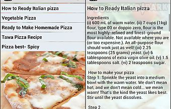 Pizza recipes cooking