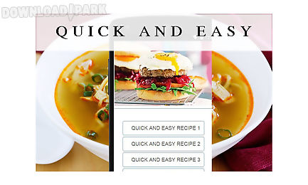 Quick and easy recipes food android app free download in apk free apk files recipes apps forumfinder Images