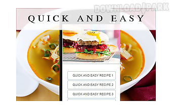 Quick and easy recipes food