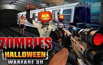 Zombies halloween warfare 3d