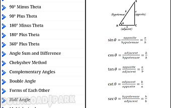Trigonometry formulas free
