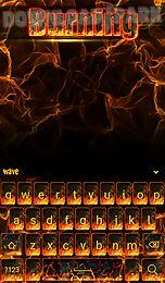 burning animated keyboard