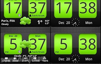 Flip clock xtheme widget 4x2