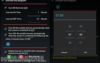 Mobile internet scheduler