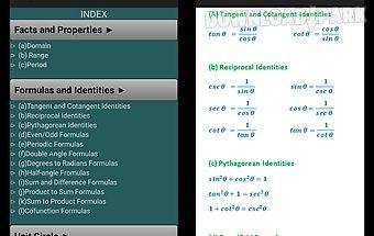 Trigonometry quick reference