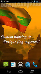 3d myanmar flag live wallpaper