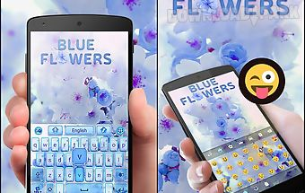 Blue flowers go keyboard theme