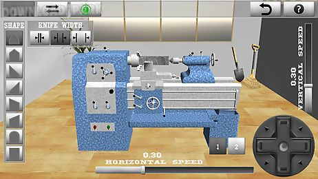 lathe worker:machine simulator