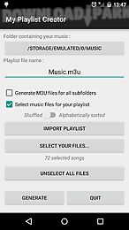 my music playlist creator