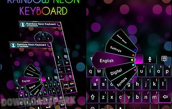 Go keyboard rainbow neon theme