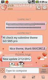 my valentine go sms theme
