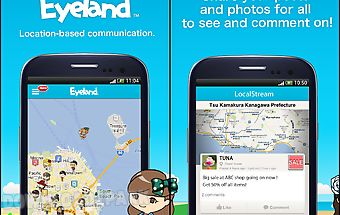 Eyeland - chat, post on map
