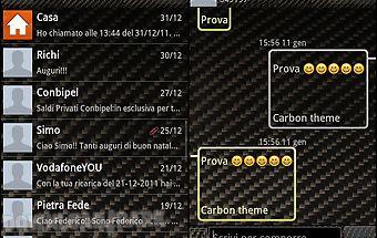 Go sms pro carbon fiber theme