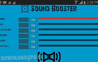Sound volume booster