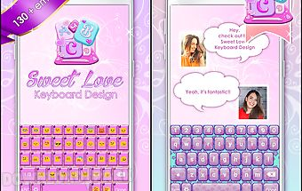 Sweet love keyboard design