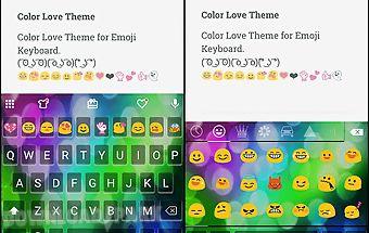 Color love emoji keyboard skin