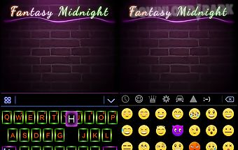 Fantasy night theme keyboard