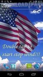3d us flag live wallpaper