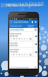 autoresponder + sms scheduler