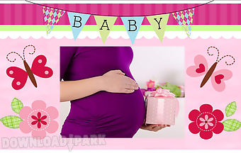 Baby girl shower photo frames