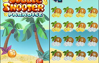 Bubble shooter: paradise. bubble..