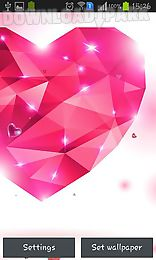 diamond hearts by live wallpaper hq