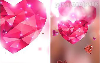 Diamond hearts by live wallpaper..
