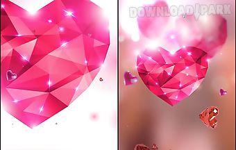 Diamond hearts by live wallpaper..