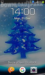 snowy christmas tree hd