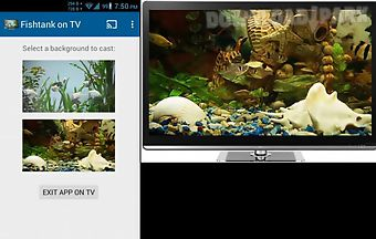 Fish tank on tv via chromecast i..