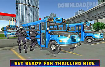 Police bus chase adventure