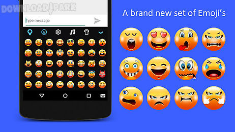 Fancy keyboard : emoji & neon Android App free download in Apk