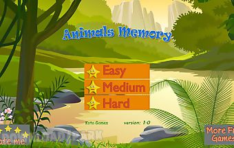 Animals memo cards