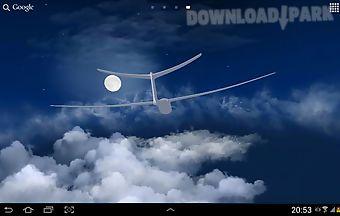 Flight in the sky 3d